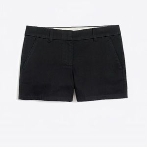 J. Crew cotton black 3 inch shorts size 6